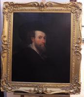Large Oil on Canvas Old Master Portrait Peter Paul Reubens 1760 (3 of 8)
