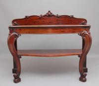 19th Century Carved Mahogany Serving Table