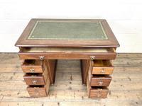 Small Antique Mahogany KneeHole Desk (5 of 9)