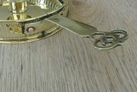 Antique Brass Georgian Gallery Chamberstick Pearson Page Candlestick c.1910 (4 of 6)