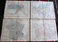 Large Collection of 23  Coloured  World Maps by Sidney Hall  1860 (4 of 4)