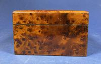 Victorian  French Burr Cedar Jewellery Box with It's Original Interior (11 of 13)