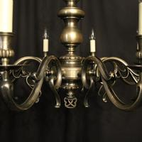 French Silver Plated 8 Light Mid 20th Century Chandelier (4 of 10)
