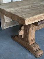 Superb Rustic Large Bleached Oak Farmhouse Table with Extensions (24 of 36)