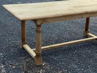 Rustic Bleached Oak Farmhouse Dining Table (10 of 25)