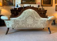 Stunning Quality Original 19th Century Carved Rosewood Cream Upholstered Sofa Settee (6 of 11)