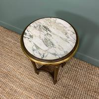 Small Country House Gilt Antique Occasional Table (3 of 6)