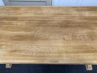 French Trestle End Refectory Farmhouse Dining Table (6 of 17)