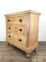 Antique Victorian Pine Chest of Drawers (8 of 9)