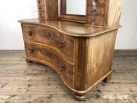Antique 19th Century Concave Mahogany Dressing Table (5 of 21)