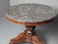 French Marble Top Gueridon Circular Centre Table (4 of 8)