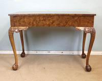 Antique Fine Quality Queen Anne Style Burr Walnut Side / Centre Table (5 of 8)