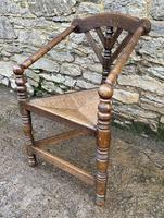 Antique Oak Turners Corner Chair (7 of 14)