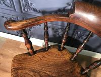 Victorian Elm Captains Smokers Bow Chair (3 of 13)