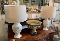 Pair of Plaster Moulded Lamp c.1930 (5 of 5)