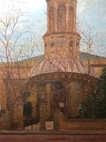 "19th Century English Oil Painting View ""St Marys Church Banbury Oxfordshire"" (14 of 24)"