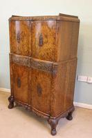 Antique Impressive Burr Oak Cocktail Drinks Cabinet (9 of 16)