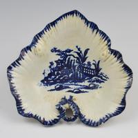 Rare Liverpool Porcelain John Pennington Leaf Tray Pickle Dish (8 of 9)
