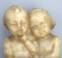 Fritz Kochendorfer - Good Carved Alabaster Group of Children c.1900 (3 of 6)