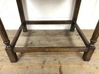 Antique Oak Side Table(m-2250) (5 of 9)