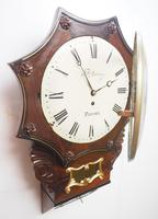 Rare Antique Drop Dial Wall Clock 8 Day Single Fusee Movement Signed J H Harvey Penzance (12 of 12)