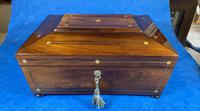 William IV Rosewood Box with Mother of Pearl Inlay (2 of 13)