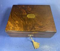 Victorian Walnut Jewellery Box (2 of 13)