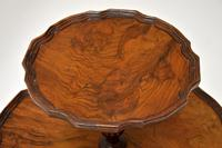 Antique Figured Walnut Two Tier Table (4 of 6)