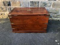 Antique Brass Bound Camphor Military Campaign Chest (8 of 11)