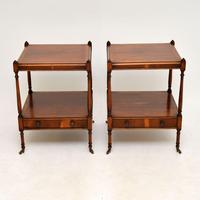 Pair of Antique Georgian Style Yew Wood Side Tables (2 of 14)