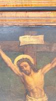 19th Century Oil on Canvas of Jesus on Cross (3 of 5)