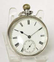 Antique silver English Lever pocket watch by Wright & Craighead (2 of 5)
