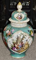Stunning Very Large Late 19th Century Helena Wolfsohn Dresden Vase + Cover (2 of 11)