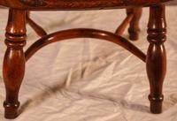 Rare Childs Yew Wood Windsor Stamped Fred Walker (5 of 10)