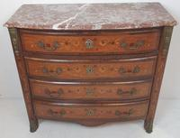 19th Century Marquetry Inlaid Rosewood Chest of Four Drawers