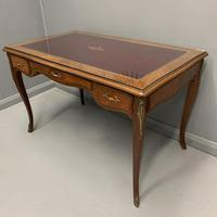 French Red Leather Top Bureau Plat (9 of 9)