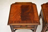 Pair of Antique Chippendale Style Mahogany Bedside Tables (6 of 12)