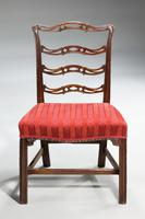 Pair of  Chippendale Period Ladderback Side Chairs (3 of 6)