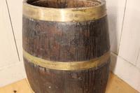 Georgian Oak Brandy Barrel. Stick Stand. Lamp Table (9 of 11)