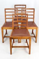 Set of 4 Oak Dining Chairs Manner of Heals (13 of 13)