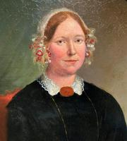 Fine Large Period 19th Century half-length Oil Portrait Painting of a Victorian Lady (4 of 12)