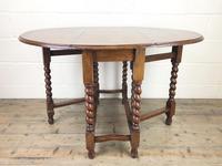 Early 20th Century Antique Oak Gateleg Table (2 of 8)