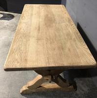 Small French Oak Farmhouse Kitchen Dining Table (9 of 11)