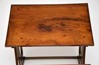 Antique Regency Style Yew Wood Nest of Tables (7 of 8)