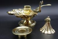 Charming Pair of Mid 19th Century Brass Chambersticks (7 of 9)