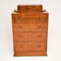 Art Deco Figured Walnut Chest of Drawers (2 of 12)