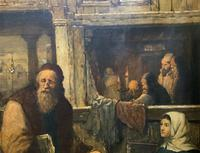 Substantial 19th Century Flemish Oil Painting of Locals in Brugge by Dumont (8 of 21)