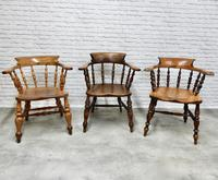 6 Smoker's Bow Armchairs - 19th Century (2 of 6)