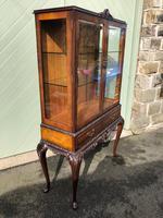 Antique Burr Walnut Display Cabinet (6 of 10)