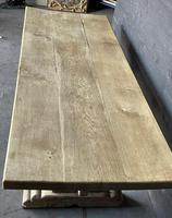 Rustic French Bleached Oak Farmhouse Dining Table (12 of 15)